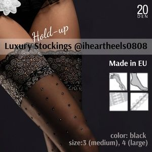 Luxury Hold-up /Stay-up Black Sheer Lace Stockings